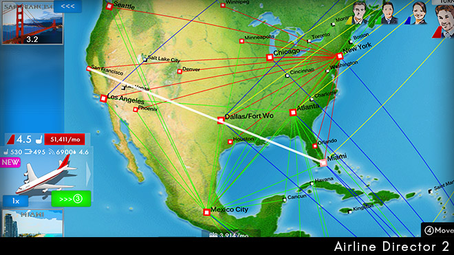 Airline routemap in america